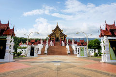The Royal Pavilion (Ho Kham Luang) in Royal Park Rajapruek near Royalty Free Stock Photos