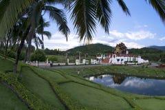 Royal Pavilion Ho Kham Luang in Royal Park Ratchaphruek at Chaingmai, Thailand. Stock Image