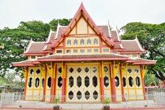 Royal pavilion at hua hin railway station, Prachuap Khiri Khan,. Thailand Stock Image