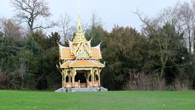 A royal pavilion in Lausanne. The City of Lausanne has the privilege of being the home of a royal Thai pavilion in Denantou Park, one of its loveliest green stock images