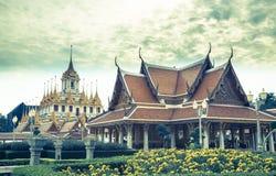 Royal Pavilion Mahajetsadabadin Bangkok Temple Panorama.  Stock Photos
