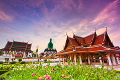 Royal Pavilion Mahajetsadabadin or King Rama III Memorial park and Wat Ratchanaddaram, Thailand Royalty Free Stock Photo