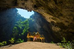 Royal pavilion in the Phraya Nakhon Cave. Prachuap Khiri Khan, Thailand Stock Photos