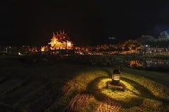 Royal pavilion Rajapruek park in Chiang Mai Thailand at night.  Royalty Free Stock Photos