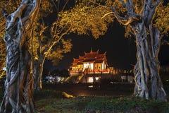 Royal pavilion Rajapruek park in Chiang Mai Thailand at night.  Stock Photos