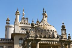 Royal Pavilion on a sunny day with no clouds in the sky Stock Image