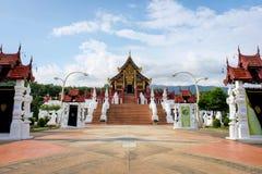 The Royal Pavilion (Ho Kham Luang) in Royal Park Rajapruek near Royalty Free Stock Photos
