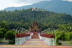 The Royal Pavilion (Ho Kham Luang) in Royal Park Rajapruek near Royalty Free Stock Photo