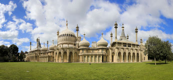Royal pavillion panorama brighton east sussex uk Stock Photography