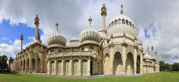 Royal pavillion panorama brighton england Stock Photography