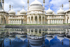 Royal pavillion reflection panorama brighton uk Royalty Free Stock Photography
