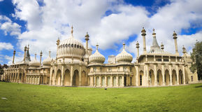 Royal pavillion panorama brighton england uk Stock Photos