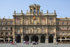 Royal Pavillion - Plaza Major - Salamanca - Spain. The Royal Pavillion in the Plaza Major in the city of Salamanca in the Castilla-y-Leon region of central Spain Stock Images