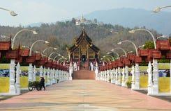 Royal pavillon. Royal Park Rajapruek. Chiang Mai province. Thailand Stock Image
