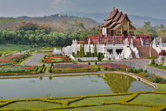 Royal pavillon. Royal Park Rajapruek. Chiang Mai province. Thailand Stock Photo