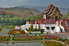 Royal pavillon. Royal Park Rajapruek. Chiang Mai province. Thailand Stock Photography