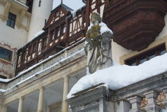 Royal Peles Castle, ornamental statue Royalty Free Stock Photography