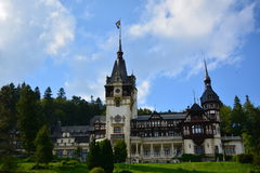 Royal Peles castle in Sinaia, Romania. Beautiful royal Peles castle in Sinaia, Romania royalty free stock images