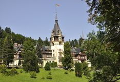 Royal Peles Castle from Sinaia in Romania Royalty Free Stock Photos