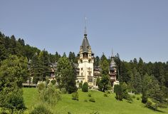 Royal Peles Castle from Sinaia in Romania Royalty Free Stock Image
