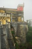Royal Pena palace, north wall. North wall of the Royal Pena palace, Portugal Royalty Free Stock Images