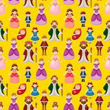 Royal people seamless pattern Stock Images