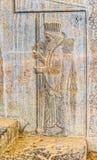 Royal Persian guard relief detail Persepolis Royalty Free Stock Images
