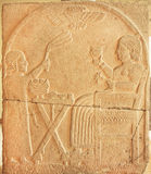 Royal person on relief panels from ancient Turkey area, 730 BC Stock Photo