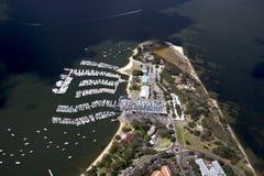 Royal Perth Yatch Club Aerial. An Aerial view of Royal Perth Yatch Club Aerial, Perth, Western Australia royalty free stock photo