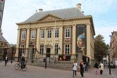 The Royal Picture Gallery Mauritshuis. Previously the residence of count John Maurice of Nassau, it now has a large art collection, including paintings by Dutch Stock Image