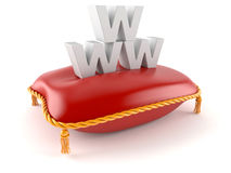 Royal pillow with www text Royalty Free Stock Image