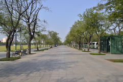 Royal Plaza Sanam Luang street view in  thailand. Royalty Free Stock Image