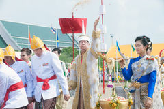 The Royal Plowing Ceremony in Thailand. Stock Photography