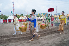 The Royal Plowing Ceremony in Thailand. Stock Image