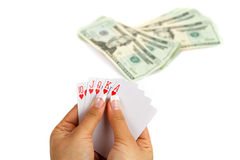 Royal poker Royalty Free Stock Photos