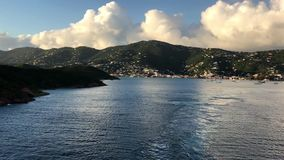 Royal Princess leaves St. Thomas stock video