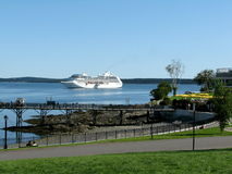 Royal Princess ship in Bar Harbor USA. Royal Princess is a cruise ship operated by Princess Cruises, and the third ship to sail for the cruise line under that Stock Image
