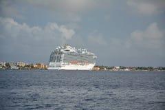 Royal Princess ship docked in Bonaire port Royalty Free Stock Photos