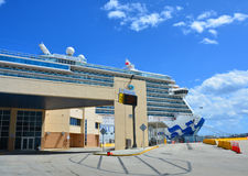 Royal Princess ship in Fort Lauderdale stock photography