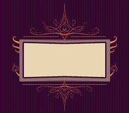 Royal purple Ornate turn of the century frame Royalty Free Stock Photo