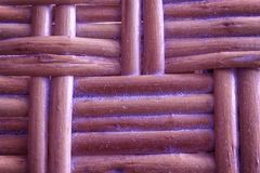 Royal purple painted Wooden wicker texture of basketwork for background use Royalty Free Stock Images