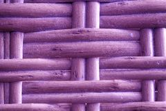 Royal purple painted Wooden wicker texture of basketwork for background use.  Stock Image
