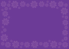 Royal Purple Vector Background with Floral Border Stock Image