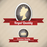 Royal quality labels Stock Photos