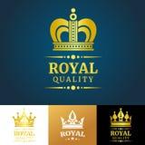 Royal quality vector crown logo template Royalty Free Stock Photos