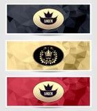 Or royal réglé de rouge de noir de bannières de triangle illustration libre de droits