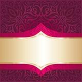 Royal Red Floral Background with gold elements luxury vintage invitation design mandala wallpaper. Royal Red Floral Background with gold elements luxury vintage royalty free illustration