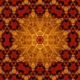 Royal red and gold pattern 008 Stock Images