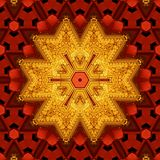 Royal red and gold pattern 007 Royalty Free Stock Photography