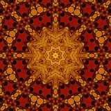 Royal red and gold pattern 006 Royalty Free Stock Image
